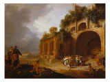 Healing of the Deaf-Mute Man Giclee Print by Bartholomeus Breenbergh
