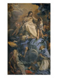 The Virgin in Glory Between Saint Francis of Sales and Saint Thomas of Villanova Giclee Print by Carlo Maratta