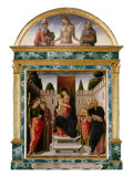 Madonna and Four Saints, 1476 Giclée-Druck von Bartolomeo Vivarini