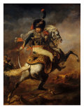 Officer of the Imperial Guard Giclee Print by Théodore Géricault
