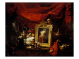 Still Life with Portrait of Chardin Giclee Print by Philippe Rousseau