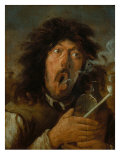 The Smoker Giclee Print by Joos Van Craesbeeck
