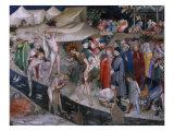 Scenes from the Life of Saint John the Baptist, Saint John Baptizing the Neophytes Giclee Print by Lorenzo & Jacopo Salimbeni