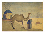 Evening on the Steppe with Camel Giclee Print by Pavel Kusnezov