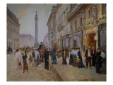The Exit of the Tailors from the Maison Paquin at Rue De La Paix Giclee-vedos tekijänä Jean Béraud