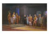 The Visits of Hernan Cortez to Emperor Moctezuma, 1885 Giclee Print by Juan Ortega