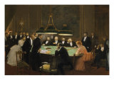 The Game Room, 1889 Giclee Print by Jean Béraud