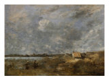 Cloudy Weather at Pas-De-Calais Giclee Print by Jean-Baptiste-Camille Corot