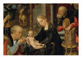 Triptych with Adoration of the Magi, 1515 (detail) Giclee Print by Joos Van Cleve