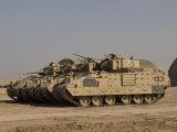 M2/M3 Bradley Fighting Vehicles Photographic Print by  Stocktrek Images