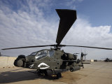 AH-64 Helicopter Sits on the Flight Line at Camp Speicher Photographic Print by  Stocktrek Images
