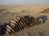 Inert Artillery Shells are Stacked Up for Collection Photographic Print by  Stocktrek Images