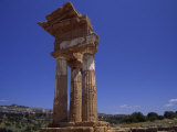 Ruins of Ancient Roman Column Architecture in Sicily, Italy Photographic Print by Marcia Kebbon