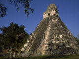 Pre-Columbian Mayan Pyramid Ruins in Belize, Belize Photographic Print by Marcia Kebbon