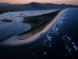 Aerial View of Tillamook Spit, Oceanside, Oregon Photographic Print by Randy Olson