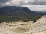 Roman Amphitheater Ruins in Sicily, Italy Photographic Print by Marcia Kebbon