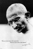 Gandhi Live Forever Print