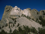 View of Mount Rushmore over the Tree Tops, Mount Rushmore, South Dakota Photographic Print by Marcia Kebbon