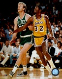 Larry Bird And Magic Johnson Art