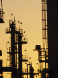 Oil Refinery at Dusk, Houston,Texas Photographic Print by Lynn Johnson