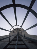 Looking Up the Ladder on a Cooling Tower at a Nuclear Power Plant, Shippingport, Pennsylvania Photographic Print by Lynn Johnson