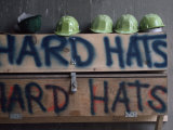 Hard Hats at a Construction Site, Pittsburgh, Pennsylvania Photographic Print by Lynn Johnson