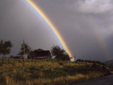 Rainbow after a Storm over a Farmstead in Rural Chile Photographic Print by Marcia Kebbon