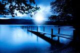 Blauwe lagune Posters