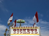 Low Angle View of Ticket Sign at an Amusement Park, New London, Connecticut, USA Photographic Print by Todd Gipstein