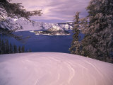 Scenic Winter Overlook, Crater Natiional Park, Oregon Photographic Print by Nick Norman