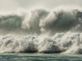 Large Waves Break at the Famous Banzai Pipeline on Oahu's North Shore Photographic Print by Charles Kogod