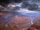 Monsoon Storm in the Grand Canyon, Alarcon Terrace, Conquistador Aisle, Grand Canyon, Arizona Photographic Print by David Edwards