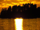 Wooded Island at Sunset, Sitka, Alaska Photographic Print by Nick Norman