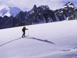 Skiing on a Glacier in Alaska, Denali National Park, Alaska Photographic Print by John Burcham