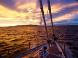 Dramatic Sunset Seen from Aboard a Ship, Antarctica Photographic Print by Paul Nicklen