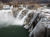 Shoshone Falls in Winter, Frozen Mist Forms Icy Surfaces on Rock, Shoshone Falls, Twin Falls, Idaho Photographic Print by Darlyne A. Murawski