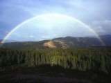 Rainbow over Mountains, Alaska Mountains, Alaska Photographic Print by Nick Norman