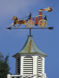 Fire Wagon Weather Vane Atop a Cupola, Brewster, Cape Cod, Massachusetts Photographic Print by Darlyne A. Murawski