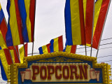 Close-Up of Popcorn Sign at a Carnival, New London, Connecticut, USA Photographic Print by Todd Gipstein