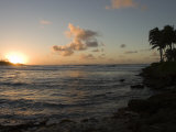 Sunset at Turtle Bay on the North Shore of Oahu Island in Hawaii Photographic Print by Charles Kogod