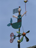 Colorful Mermaid Shaped Weather Vane, Brewster, Cape Cod, Massachusetts Photographic Print by Darlyne A. Murawski