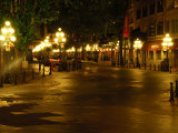 View Down a Street in Vancouver's Gastown at Night, Gastown, Vancouver, British Columbia, Canada Photographic Print by Darlyne A. Murawski
