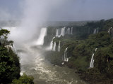 Monstrous Iguazu Waterfalls Cascade into a Subtropical Rainforest, Iguazu National Park, Argentina Fotografiskt tryck av Jason Edwards