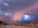 Storm Approaches Tohachi Canyon, Navajo Indian Reservation, Painted Desert, Arizona Photographic Print by David Edwards
