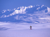 Cross-Country Skier in an Arctic Landscape, Yukon Mountains, Canada Photographic Print by Nick Norman