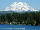 View of Mount Rainier from Clear Lake, Mt. Rainier, Washington Photographic Print by Darlyne A. Murawski