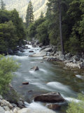 Water Flowing in the South Fork Kings River, Kings Canyon National Park, California Photographic Print by Rich Reid
