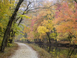 Towpath Along the Chesapeake and Ohio Canal One Autumn Day Photographic Print by Skip Brown
