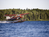 Norseman Float Plane Takes Off, Red Lake, Northern Ontario, Canada Fotografiskt tryck av Pete Ryan