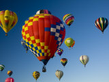 Hot Air Balloons in a Hot Air Balloon Festival, Albuquerque, New Mexico, USA Photographic Print by Ralph Lee Hopkins